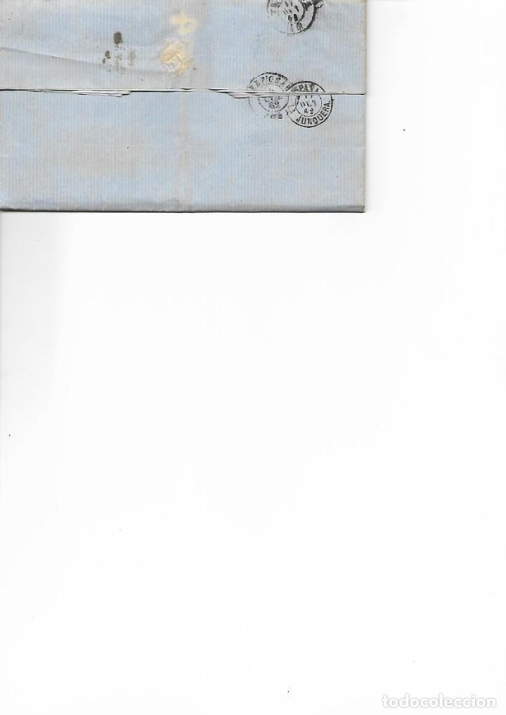 Sellos: SOBRE - 1862 CARTA COMERCIAL DESDE COLLIOURE - FRANCIA A TARRAGONA VER REINTEGROS Y MATASELLOS - Foto 2 - 189829928