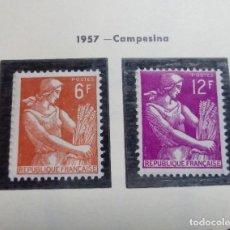 Sellos: FRANCIA 1957. CAMPESINA.. Lote 189946523