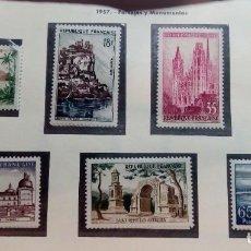 Sellos: FRANCIA 1957. PAISAJES Y MONUMENTOS.. Lote 189946835
