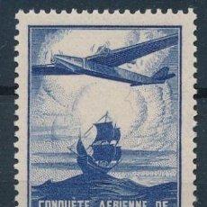 Sellos: FRANCIA 1936 Y&T 320** CONQUETE AERIENNE DE L'ATLANTIQUE SUD NUEVOS SIN SEÑAL DE FIJASELLOS. Lote 189952300