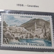 Sellos: FRANCIA 1958. LOURDES.. Lote 189982507