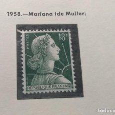 Sellos: FRANCIA 1958. MARIANA. DE MULLER. Lote 189982721
