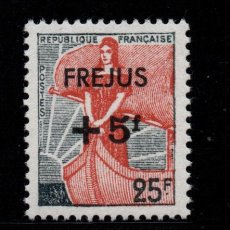 Sellos: FRANCIA 1229** - AÑO 1959 - PRO SINIESTRO DE FREJUS. Lote 295529673