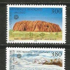 Sellos: FRANCIA SERVICIO UNESCO YVERT NUM. 114/115 ** SERIE COMPLETA SIN FIJASELLOS. Lote 191969401
