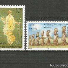 Sellos: FRANCIA SERVICIO UNESCO YVERT NUM. 118/119 ** SERIE COMPLETA SIN FIJASELLOS. Lote 191969552