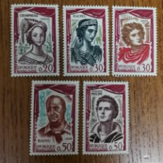 Sellos: N°1301/05 MH, COMEDIANTES FRANCESES (FOTOGRAFÍA REAL). Lote 193020667