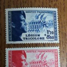 Sellos: 565/66 MH Y (*), LEGION TRICOLOR 1942 (FOTOGRAFÍA REAL). Lote 193022933
