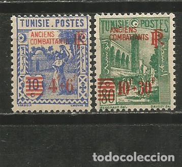 TUNEZ COLONIA FRANCESA YVERT NUM. 302/303 * SERIE COMPLETA CON FIJASELLOS (Sellos - Extranjero - Europa - Francia)