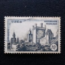 Sellos: SELLO FRANCIA, 12 F, CHATEAU UZES, 1950. SIN USAR. Lote 196799043