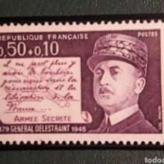 Sellos: SELLO FRANCIA GENERAL DELESTRAINT. Lote 198764902