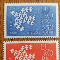 Sellos: FRANCIA TEMA EUROPA 1961 MNH (FOTOGRAFÍA REAL). Lote 199286268