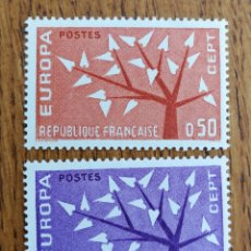 Sellos: FRANCIA TEMA EUROPA CEPT AÑO 1962 MNH (FOTOGRAFÍA REAL). Lote 199291501
