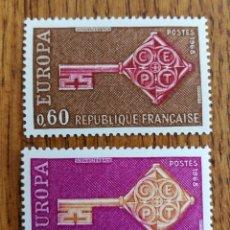 Sellos: FRANCIA TEMA EUROPA CEPT AÑO 1968,MNH (FOTOGRAFÍA REAL). Lote 199291753