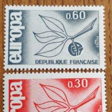Sellos: FRANCIA TEMA. EUROPA CEPT AÑO 1965, MNH (FOTOGRAFÍA REAL). Lote 199291897