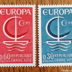 Sellos: FRANCIA TEMA EUROPA CEPT AÑO 1966,MNH (FOTOGRAFÍA REAL). Lote 199292131