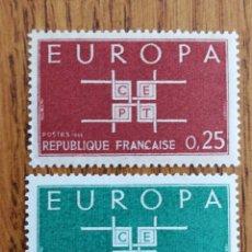 Sellos: FRANCIA TEMA EUROPA CEPT AÑO 1963 MNH (FOTOGRAFÍA REAL). Lote 199292816