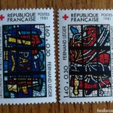Timbres: FRANCIA, TEMA CRUZ ROJA 1981,MNH (FOTOGRAFÍA REAL). Lote 218351596