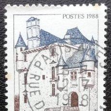Sellos: 1988. FRANCIA. 2546. TURISMO. CASTILLO DE SEDIÈRES. USADO.. Lote 199672751