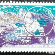 Sellos: 1976. FRANCIA. 1908. CIENCIA. ACELERADOR EUROPEO DE PARTÍCULAS. SERIE COMPLETA. NUEVO.. Lote 199673026