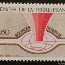 Sellos: FRANCIA, N°2093 MNH, FUENTES DE ENERGÍA 1980 (FOTOGRAFÍA REAL). Lote 264192036