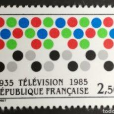 Sellos: FRANCIA N°2353 MNH, L ANIVERSARIO DE LA TELEVISIÓN 1985 (FOTOGRAFÍA REAL). Lote 264194960