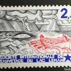Sellos: FRANCIA, N°2373 MNH, CENTENARIO DE LA SOCIEDAD INTERNACIONAL DE SALVAMENTO DEL LAGO LEMAN 1985.. Lote 264195192