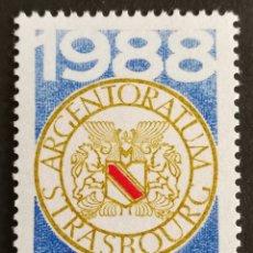 Sellos: FRANCIA, N°2552 MNH, MM AÑOS. DE WSTRASBURGO 1988 (FOTOGRAFÍA REAL). Lote 264195864