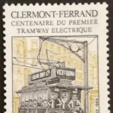 Sellos: FRANCIA, N°2608 MNH, CENTENARIO DEL PRIMER TRANVIA ELÉCTRICO 1989 (FOTOGRAFÍA REAL). Lote 245171455
