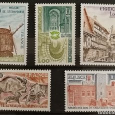 Sellos: FRANCIA, N°2040/44 MNH, SERIE TURÍSTICA 1979 (FOTOGRAFÍA REAL). Lote 202260910