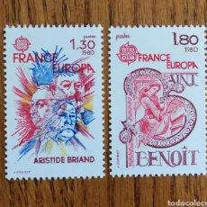 Sellos: FRANCIA, TEMA EUROPA 1980, MNH** (FOTOGRAFÍA ESTÁNDAR). Lote 223440995