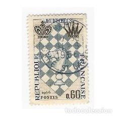Sellos: SELLO FRANCIA 1966 JEU D'ECHECS 0,60. Lote 204813347