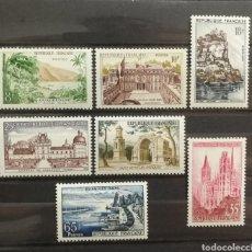 Sellos: FRANCIA N°1125/31 MNH, SERIE TURÍSTICA 1957 (FOTOGRAFÍA REAL). Lote 205193582