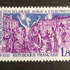 Sellos: FRANCIA, N°2224 MNH, ALUMBRADO PÚBLICO 1982 (FOTOGRAFÍA REAL). Lote 264202656