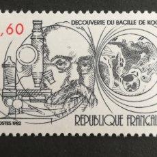 Sellos: FRANCIA, N°2246 MNH, DESCUBRIMIENTO DEL VACILO DE KOOCK 1982 (FOTOGRAFÍA REAL). Lote 263164315