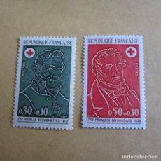 Sellos: FRANCIA 1972 YVERT Nº 1735/36**, CRUZ ROJA. Lote 206341067