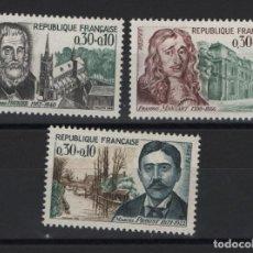Sellos: R18/ FRANCIA 1966, Y&T 1470/72 MNH**. Lote 206855393