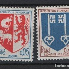 Sellos: R18/ FRANCIA 1966, Y&T 1468/69 MNH**. Lote 206855646
