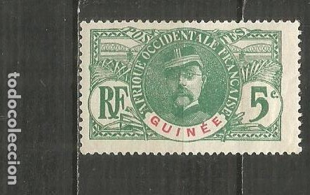 GUINEA COLONIA FRANCESA YVERT NUM. 36 * NUEVO CON FIJASELLOS (Sellos - Extranjero - Europa - Francia)