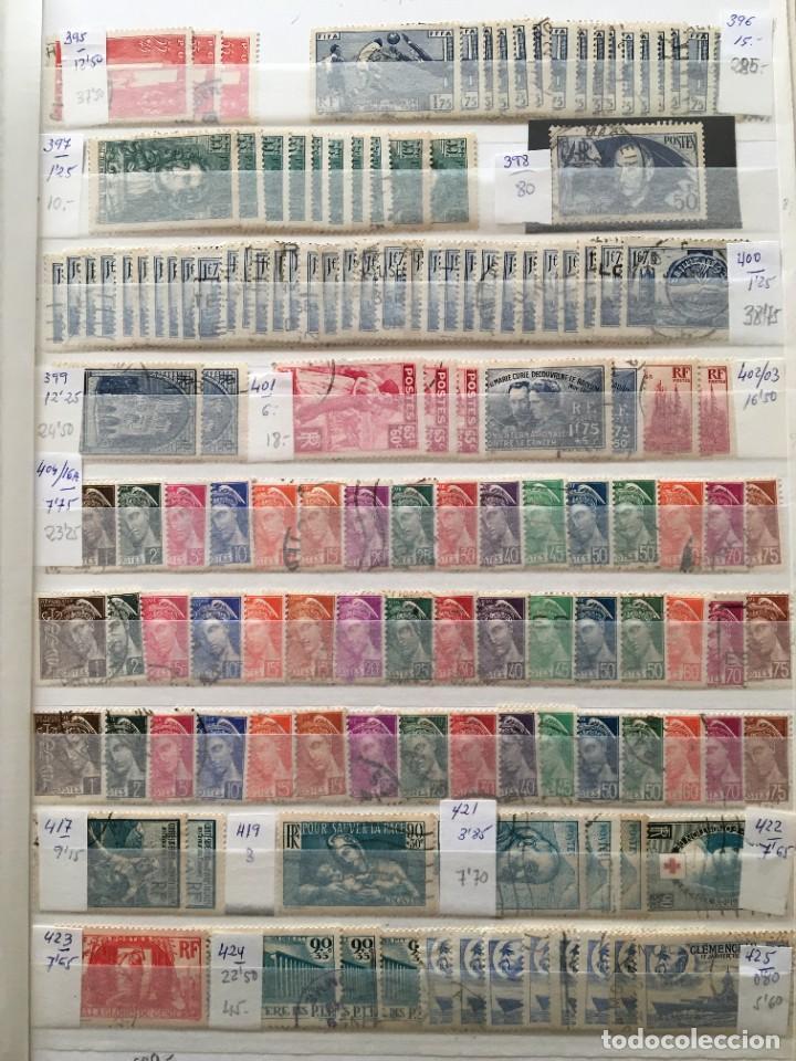 FRANCIA, GRAN STOCK DE SELLOS Y SERIES COMPLETAS EN USADO, ( VALOR EN CATALOGO ++6000€) (Sellos - Extranjero - Europa - Francia)