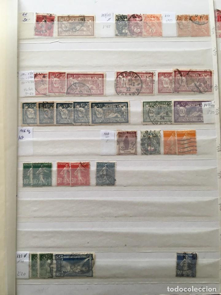 Sellos: FRANCIA, Gran Stock de sellos y series completas en usado, ( Valor en catalogo ++6000€) - Foto 2 - 207874460
