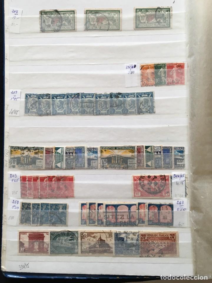 Sellos: FRANCIA, Gran Stock de sellos y series completas en usado, ( Valor en catalogo ++6000€) - Foto 3 - 207874460