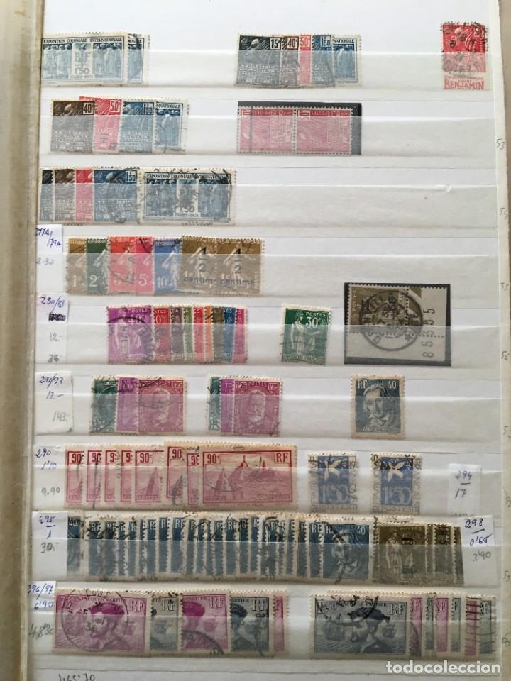 Sellos: FRANCIA, Gran Stock de sellos y series completas en usado, ( Valor en catalogo ++6000€) - Foto 4 - 207874460