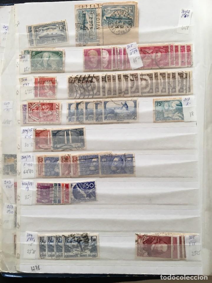 Sellos: FRANCIA, Gran Stock de sellos y series completas en usado, ( Valor en catalogo ++6000€) - Foto 5 - 207874460