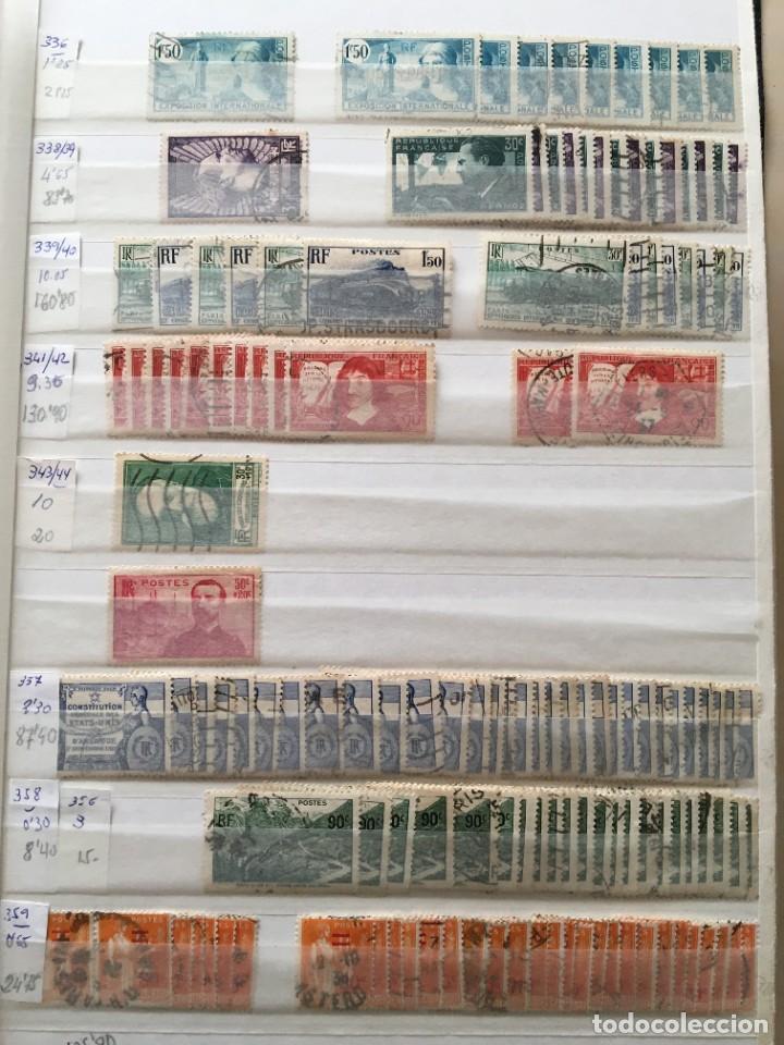 Sellos: FRANCIA, Gran Stock de sellos y series completas en usado, ( Valor en catalogo ++6000€) - Foto 6 - 207874460