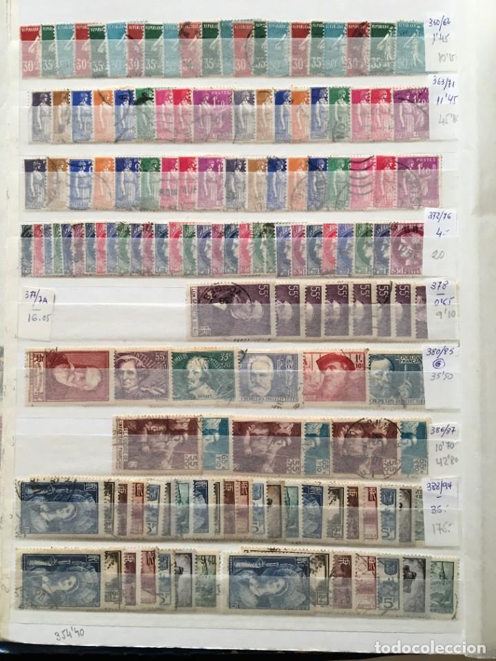 Sellos: FRANCIA, Gran Stock de sellos y series completas en usado, ( Valor en catalogo ++6000€) - Foto 7 - 207874460