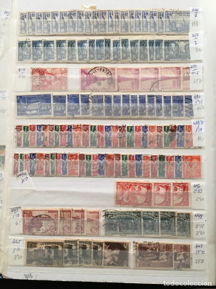 Sellos: FRANCIA, Gran Stock de sellos y series completas en usado, ( Valor en catalogo ++6000€) - Foto 8 - 207874460