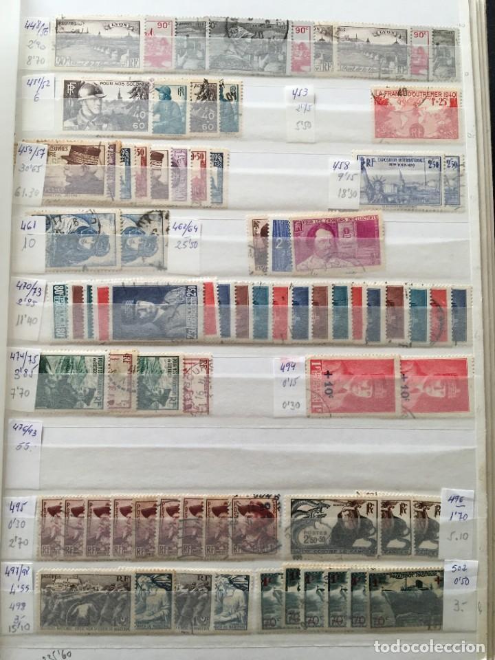 Sellos: FRANCIA, Gran Stock de sellos y series completas en usado, ( Valor en catalogo ++6000€) - Foto 9 - 207874460