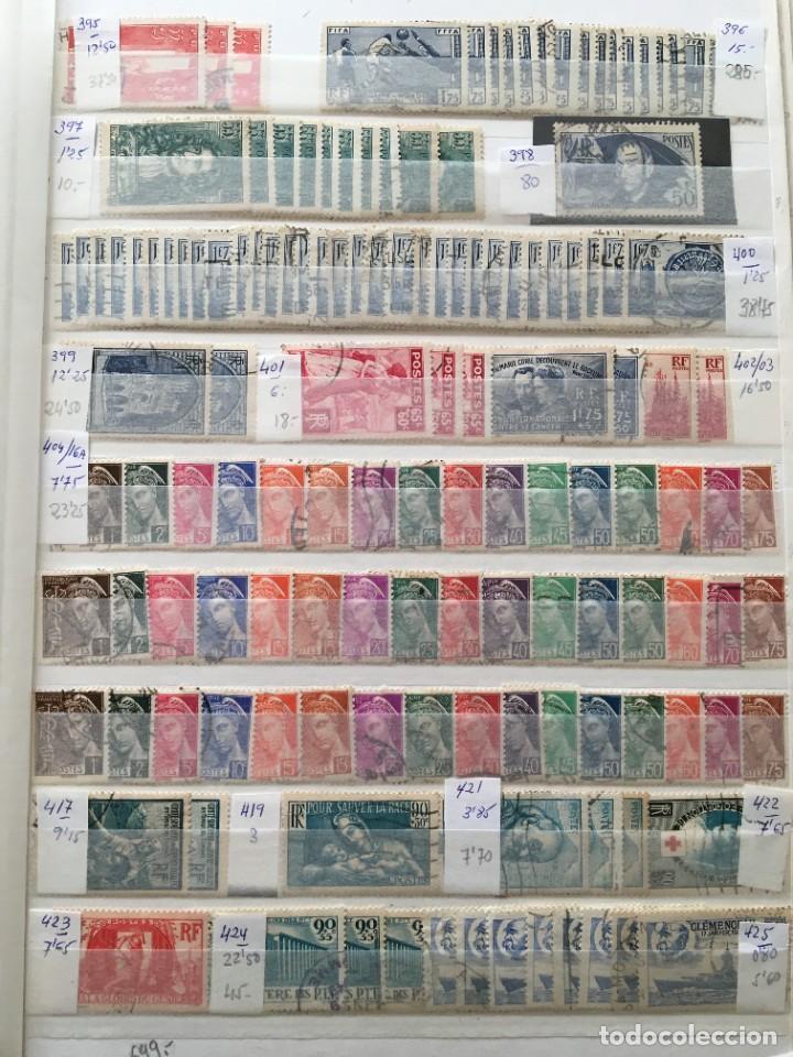 Sellos: FRANCIA, Gran Stock de sellos y series completas en usado, ( Valor en catalogo ++6000€) - Foto 10 - 207874460