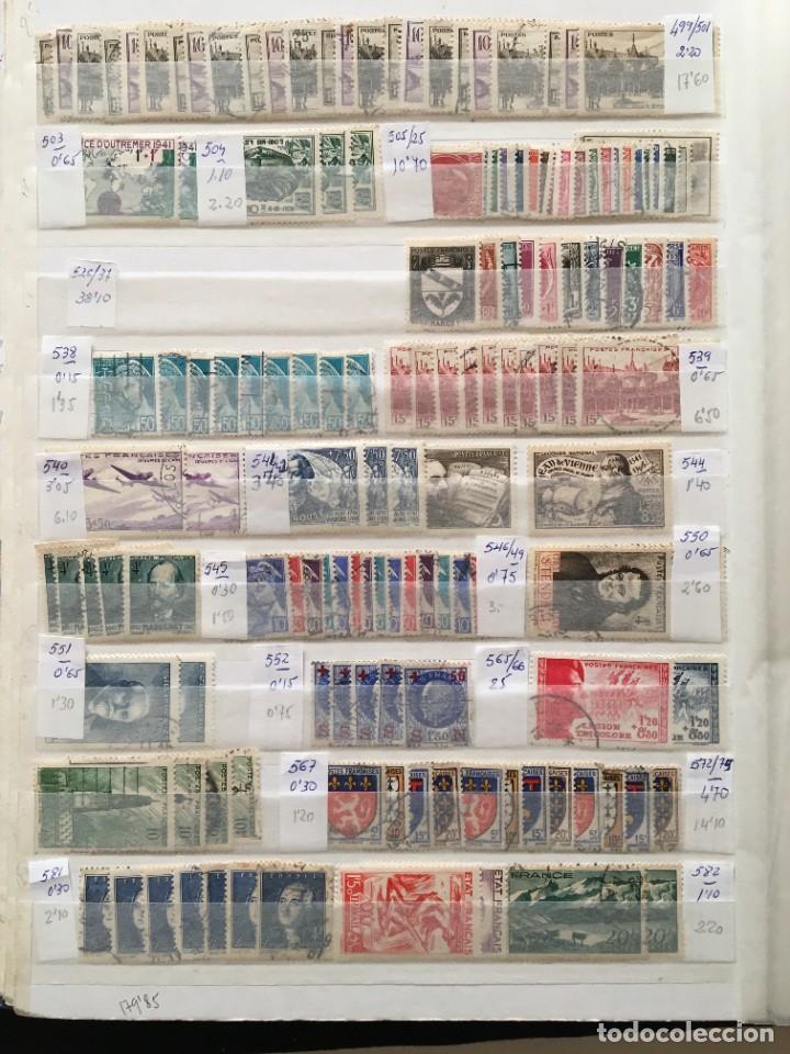 Sellos: FRANCIA, Gran Stock de sellos y series completas en usado, ( Valor en catalogo ++6000€) - Foto 11 - 207874460