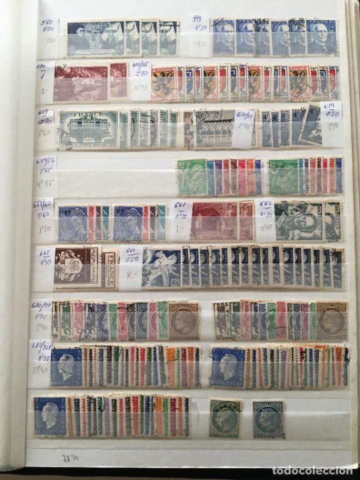Sellos: FRANCIA, Gran Stock de sellos y series completas en usado, ( Valor en catalogo ++6000€) - Foto 12 - 207874460